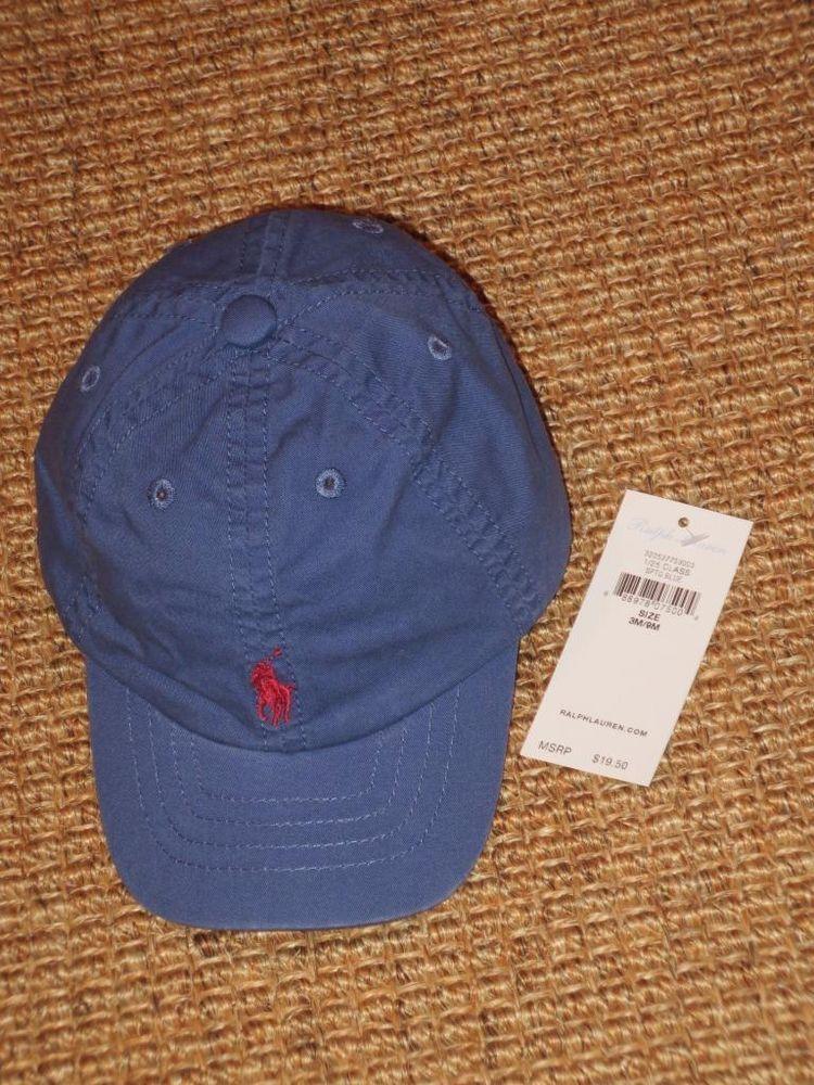 ea9f4105785 POLO RALPH LAUREN BABY BOY S BASEBALL CAP 3 - 9 MONTHS BLUE NEW NWT   PoloRalphLauren