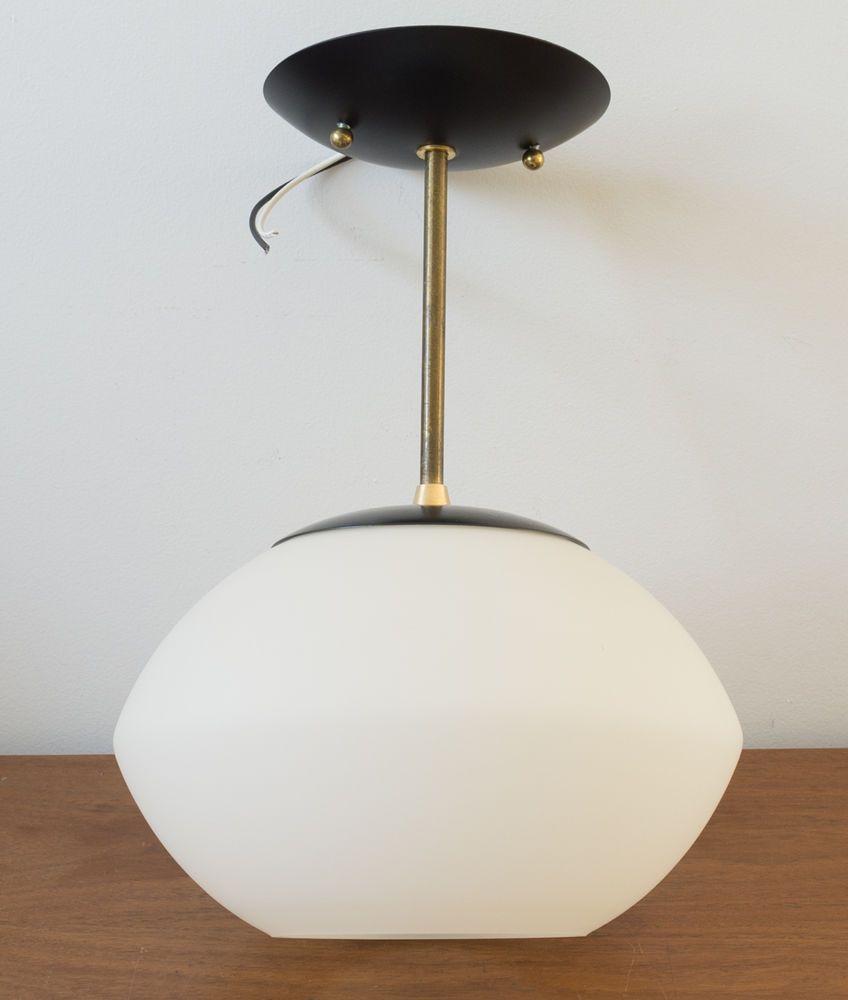 Mid Century Modern Ellipse Globe Light Fixture Mushroom Lamp Laurel
