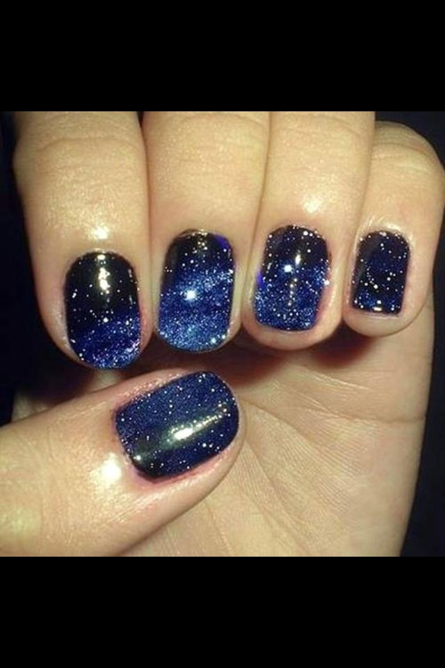 Night sky nail art | Nails | Pinterest | Sky nails and Makeup