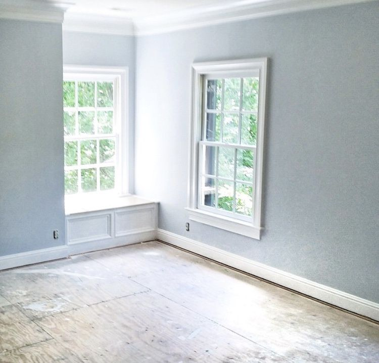 Benjamin Moore Paint Colors Blue Lace On Walls And White Dove Trim Paul In 2019 Interior Painted