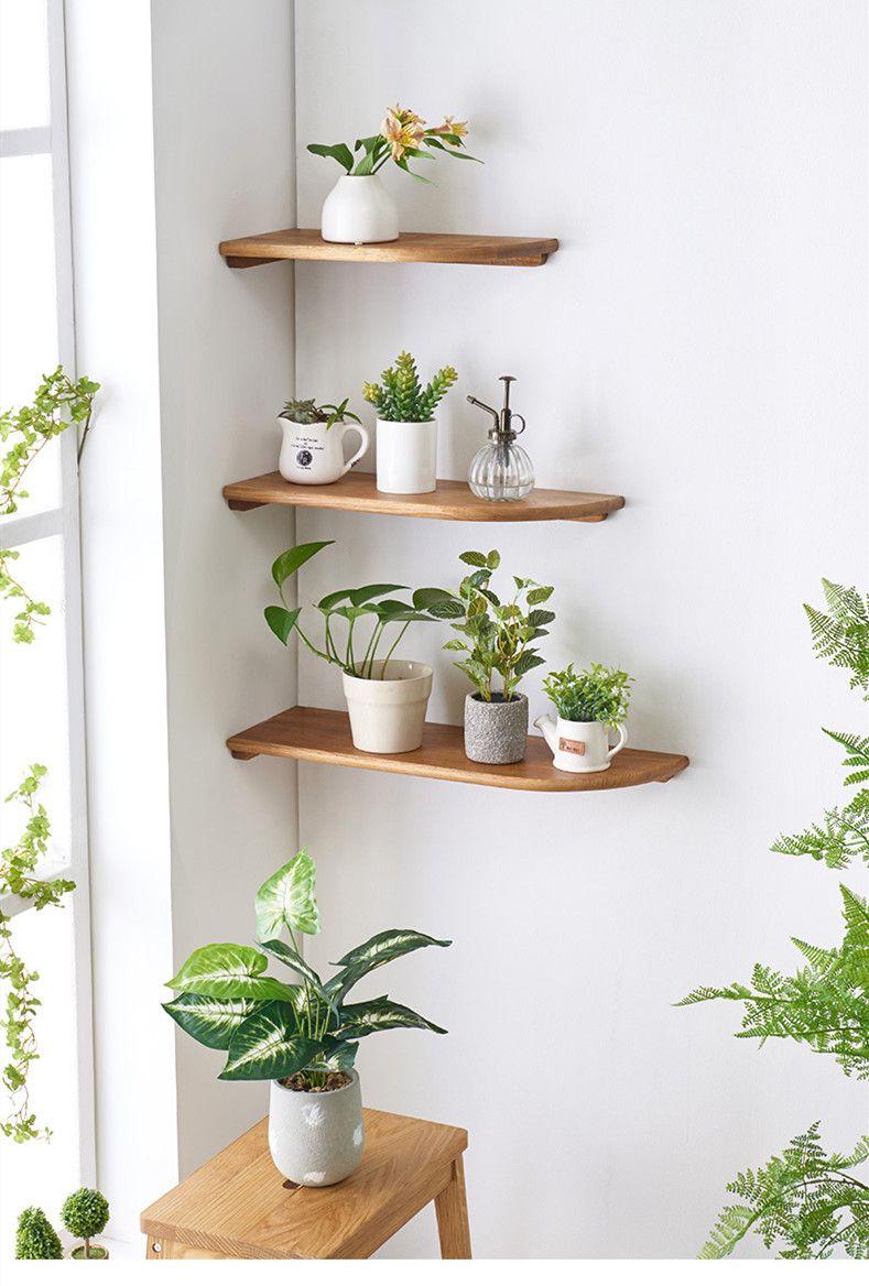 Corner Floating Wall Mounted Shelves Plant Decor Indoor House Plants Decor Plant Decor