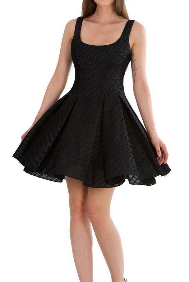 1c0cf1a02 Vestido con volantes negro -mayorista de moda mujer-mayorista de ropa mujer-ropas  mujer al por mayor-ropa hecha en Europa-Cabo Calleja
