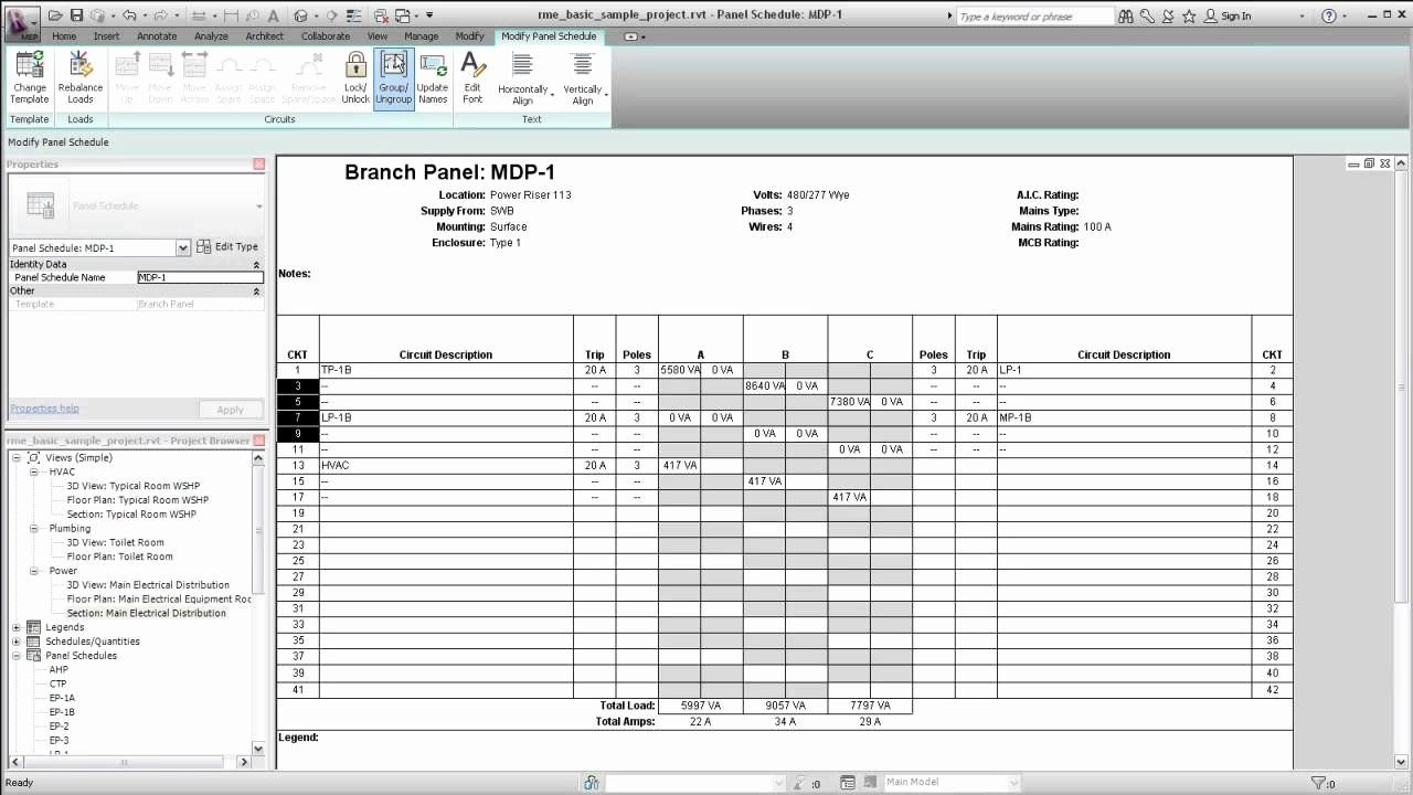 Electrical Panel Schedule Template Excel Inspirational