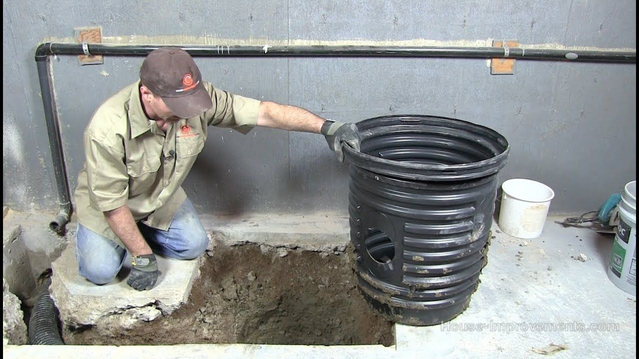 How to install a sump pump pit youtube sump pump sump