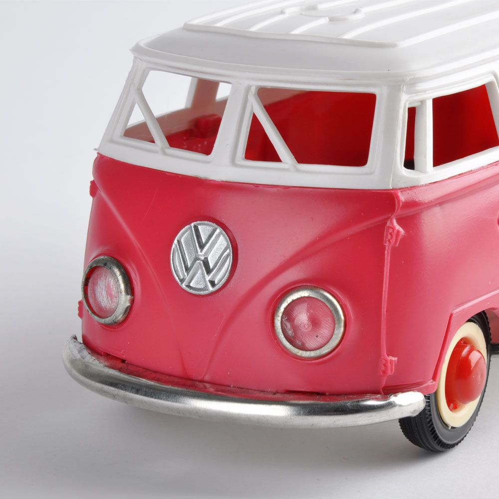 70s Volkswagen Bus. Traditional toy friction-powered, which has become a cult object among the collectors.
