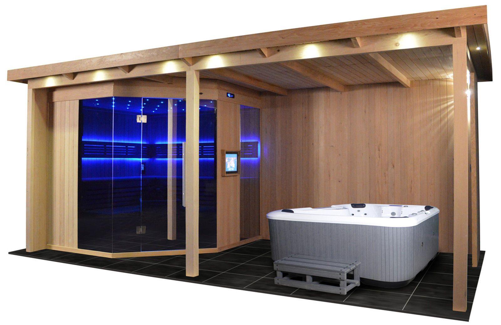 Gartensauna Gs 4025 Vs Bio Kombiofen 555x280cm Gartensauna Gartenhaus Mit Sauna Sauna Im Garten