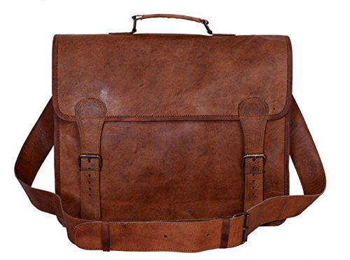 b01b91abf482 Komal's Passion Leather 16 Inch Real Handmade Leather Briefcase ...