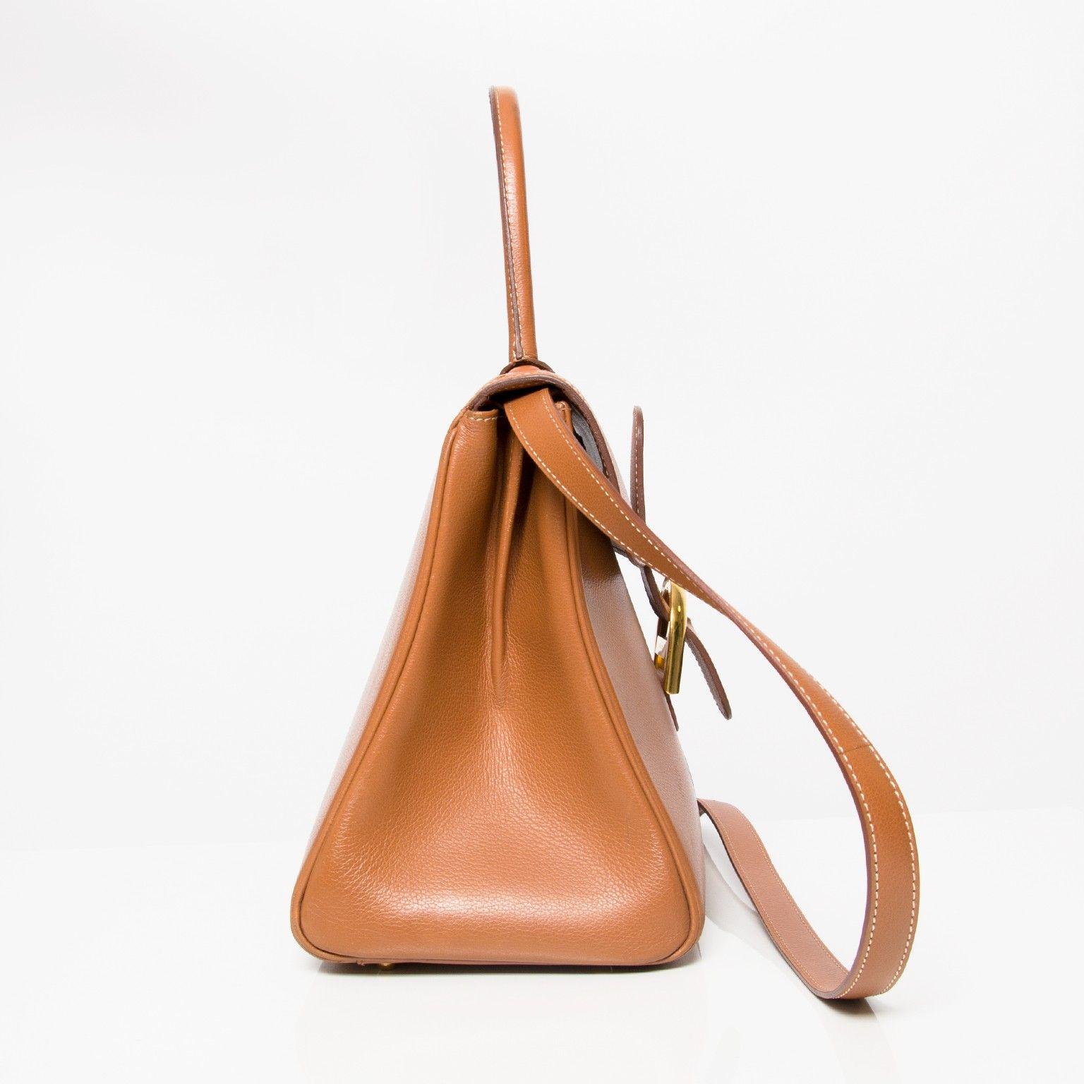 Delvaux Cognac Brillant MM Bag Your goto shopping place