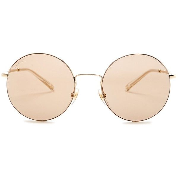 9f4ece07da GUCCI Women s Round Sunglasses ( 120) ❤ liked on Polyvore featuring  accessories