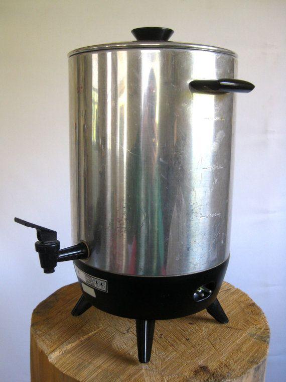 Mirro Percolator Coffee Maker : Vintage Mirro Matic Automatic Coffee Maker 30 cup Stainless Steel electric Percolator Retro ...