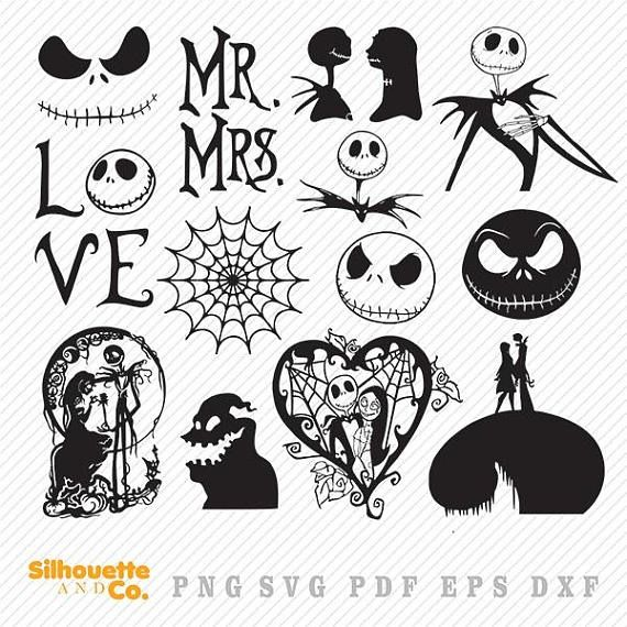 Download Nightmare Before Christmas Svg Dxf Nightmare Clipart ...