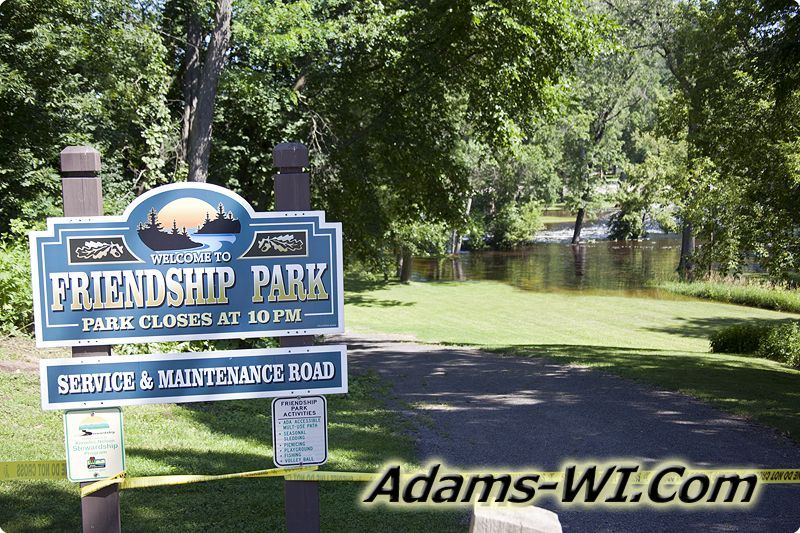 Friendship park flooded closed friendship dam lake