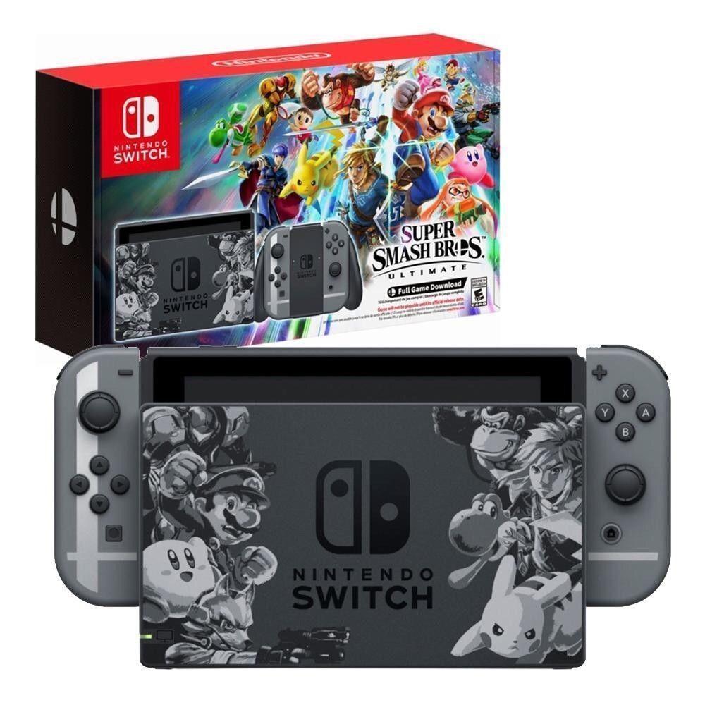 New Nintendo Switch Super Smash Bros Brothers Ultimate Console Bundle Nintendo Buy Nintendo Switch Pikac Nintendo Switch Accessories Nintendo Switch Nintendo