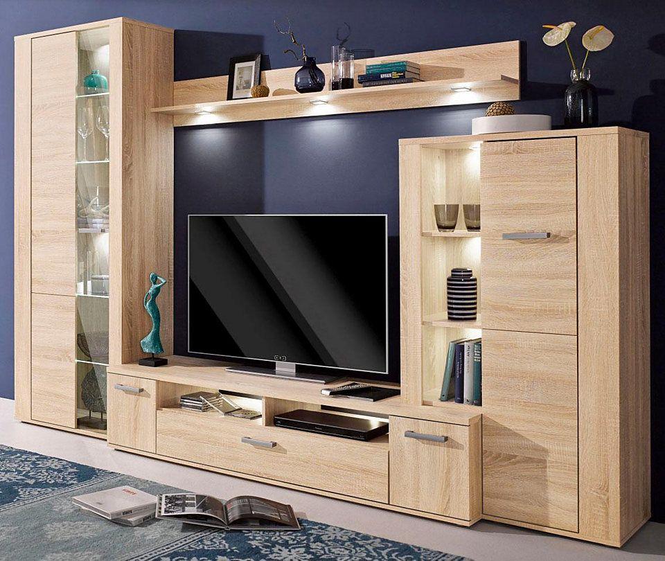 Wohnwand 4 Tlg Jetzt Bestellen Unter Https Moebel Ladendirekt De Wohnzimmer Schraenke Wohnwaende Tv Unit Furniture Wall Tv Unit Design Tv Cabinet Design