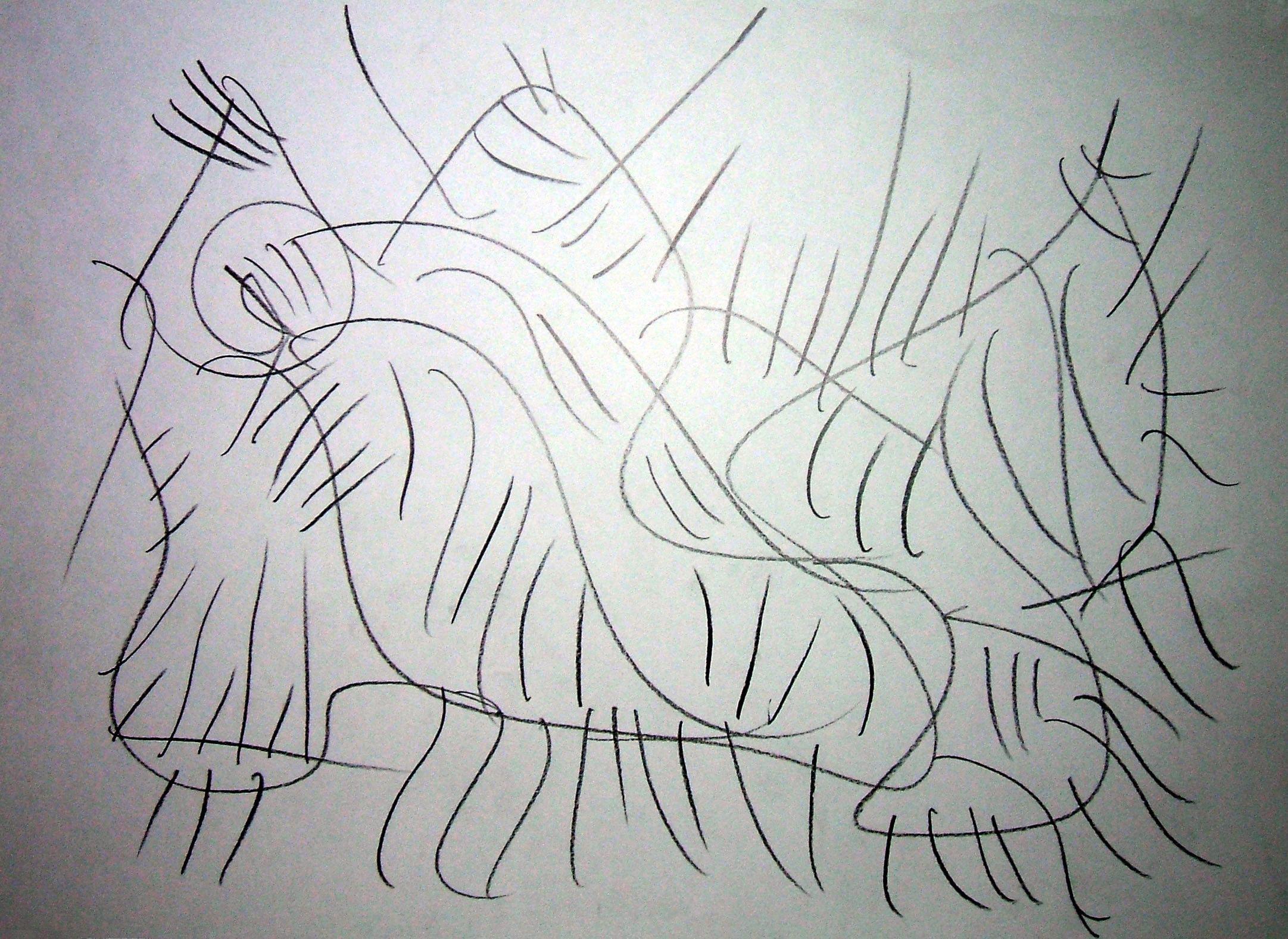 """Felino mutante"" 2012 Matita su carta 21x29,5 ©Pietro Gargano"