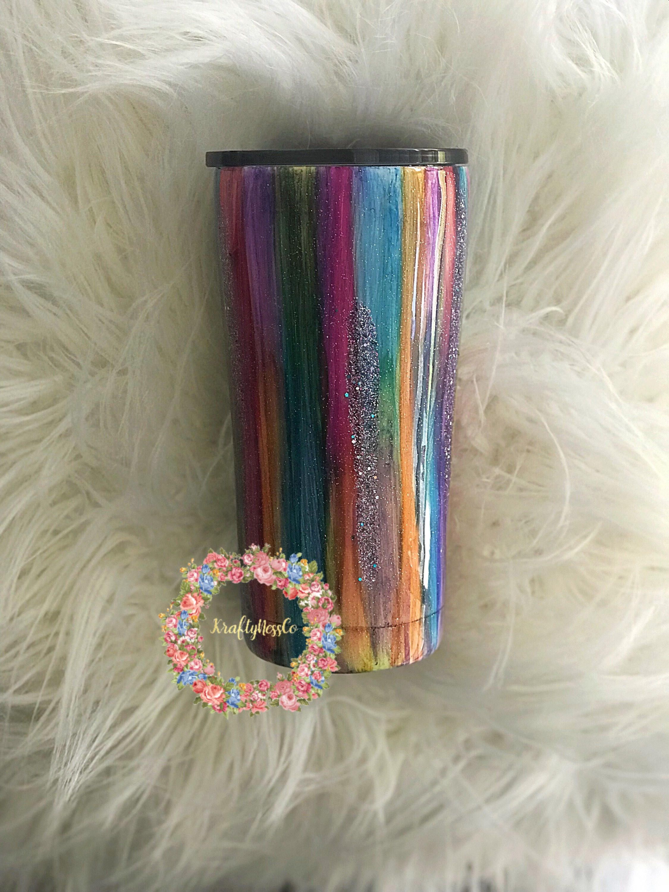 f8c3916a54c Multi-colored Wood Grain Inspired Tumbler| Glitter Tumbler | Ready-to-Ship  Tumbler| Gift For Her| Travel Cup | Coffee Cup | Mothers Day Gift by  KraftyNessCo ...
