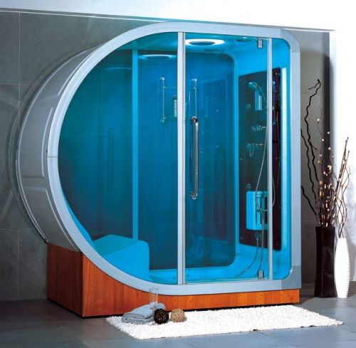 luxury shower cubicle with seating