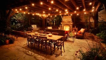 Awesome Look Outdoor Globe String Lights Battery Operated On Patio