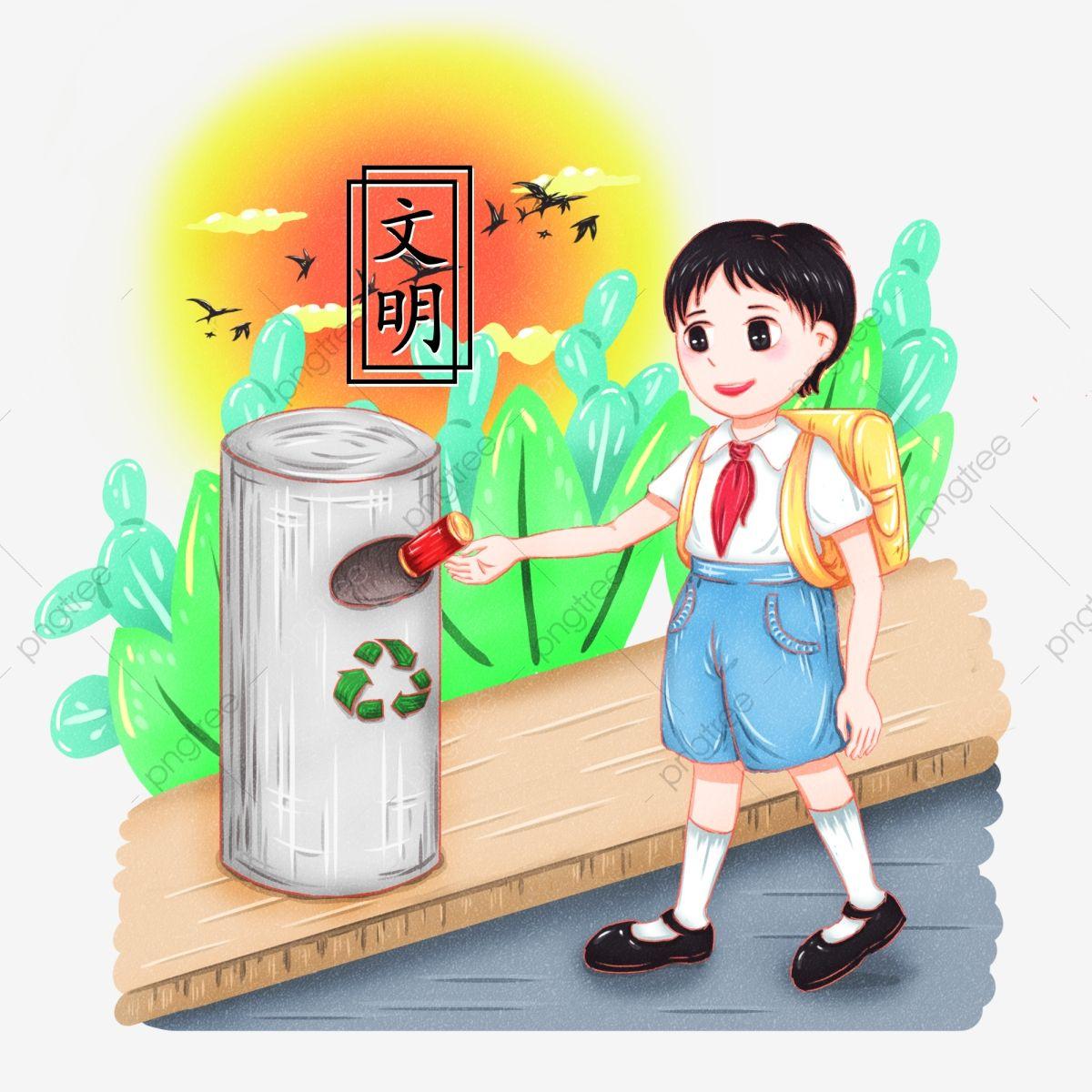 Elementos De Personajes De Dibujos Animados De Civilizacion Dibujados A Mano De Valores Centrales Socialistas Bote De Basura Tirar Basura Reciclar Y Reutiliz Manos Dibujo Dibujos Dibujos Animados