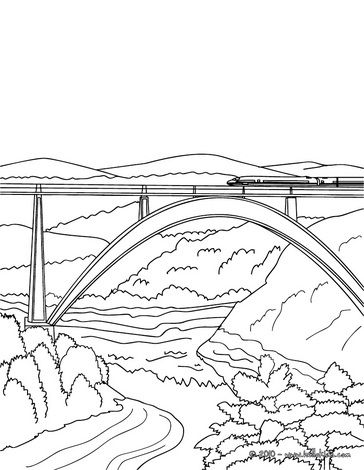 High Speed Rail Crossing A Very Modern And High Bridge Coloring Page Coloring Pages Train Coloring Pages Train Wallpaper