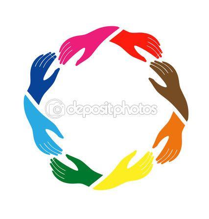 Teamwork Group Of Hands Hand Logo Community Logo Teamwork