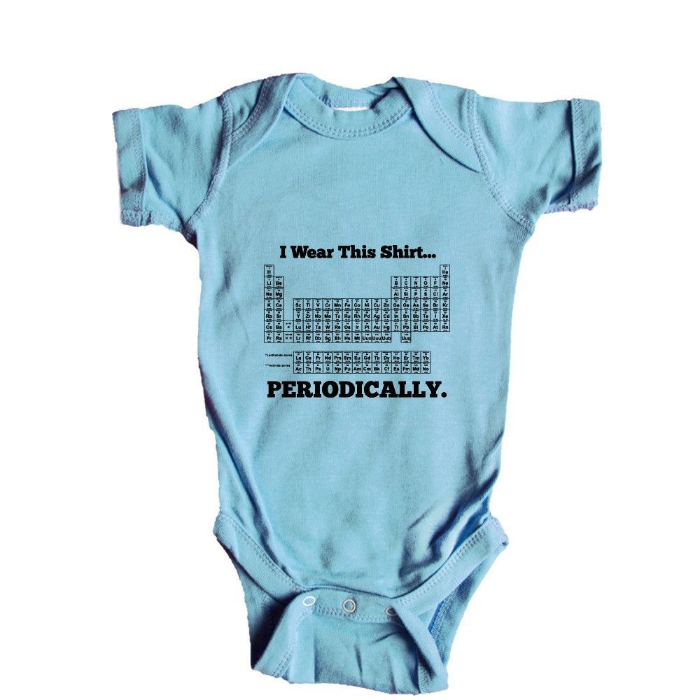 34e80bdd5b0 I Wear This Shirt Periodically Periodic Table Elements Science School Pun  Puns Play On Words Funny Unisex Adult T Shirt SGAL3 Baby Onesie   Tee