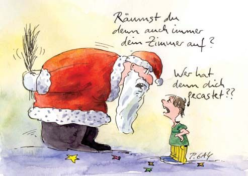 Peter Gaymann Postkarte Wer hat Dich denn gecastet #1.adventspruch