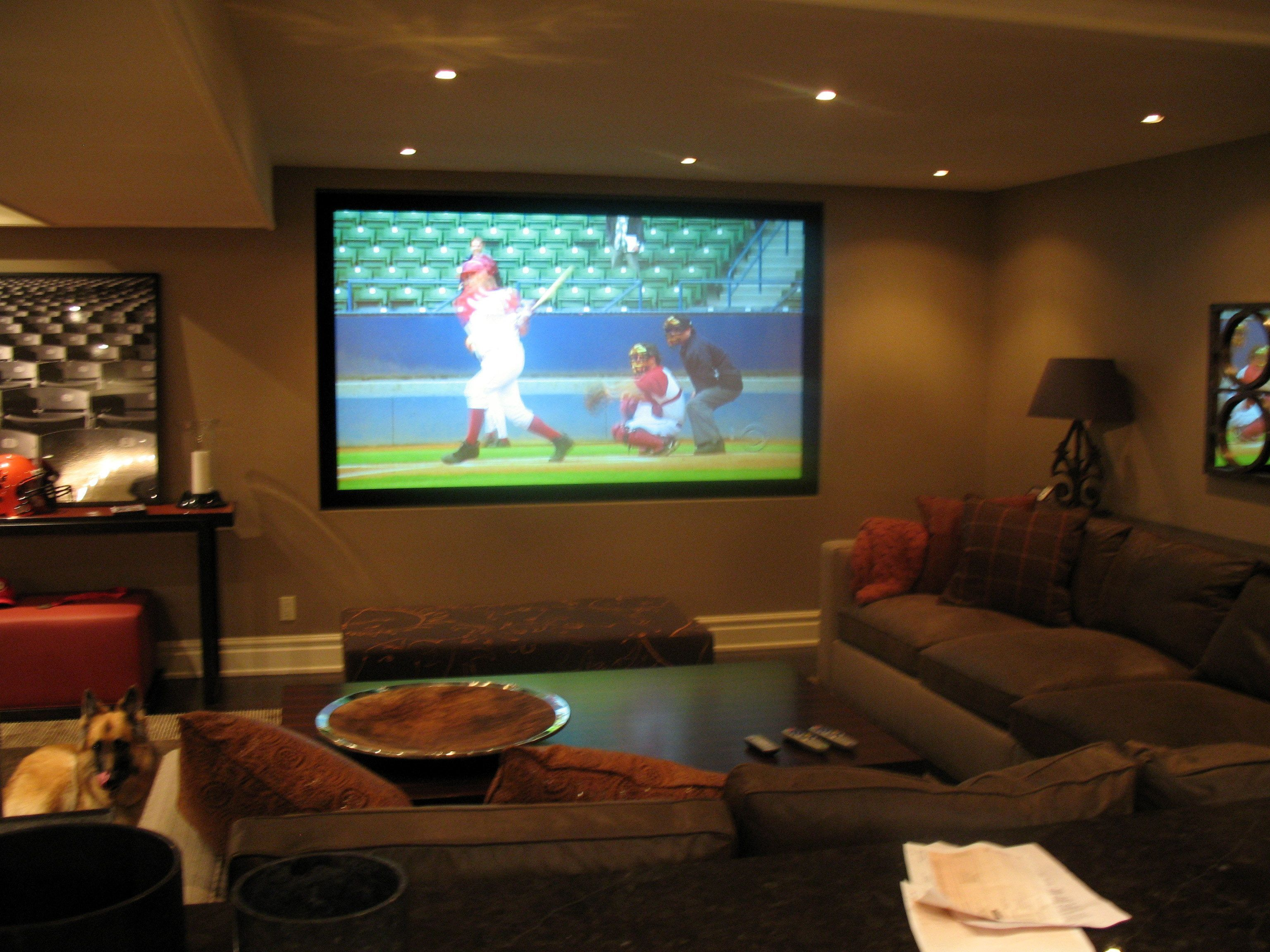 Room Awesome Basement Home Theater Make For Your Own