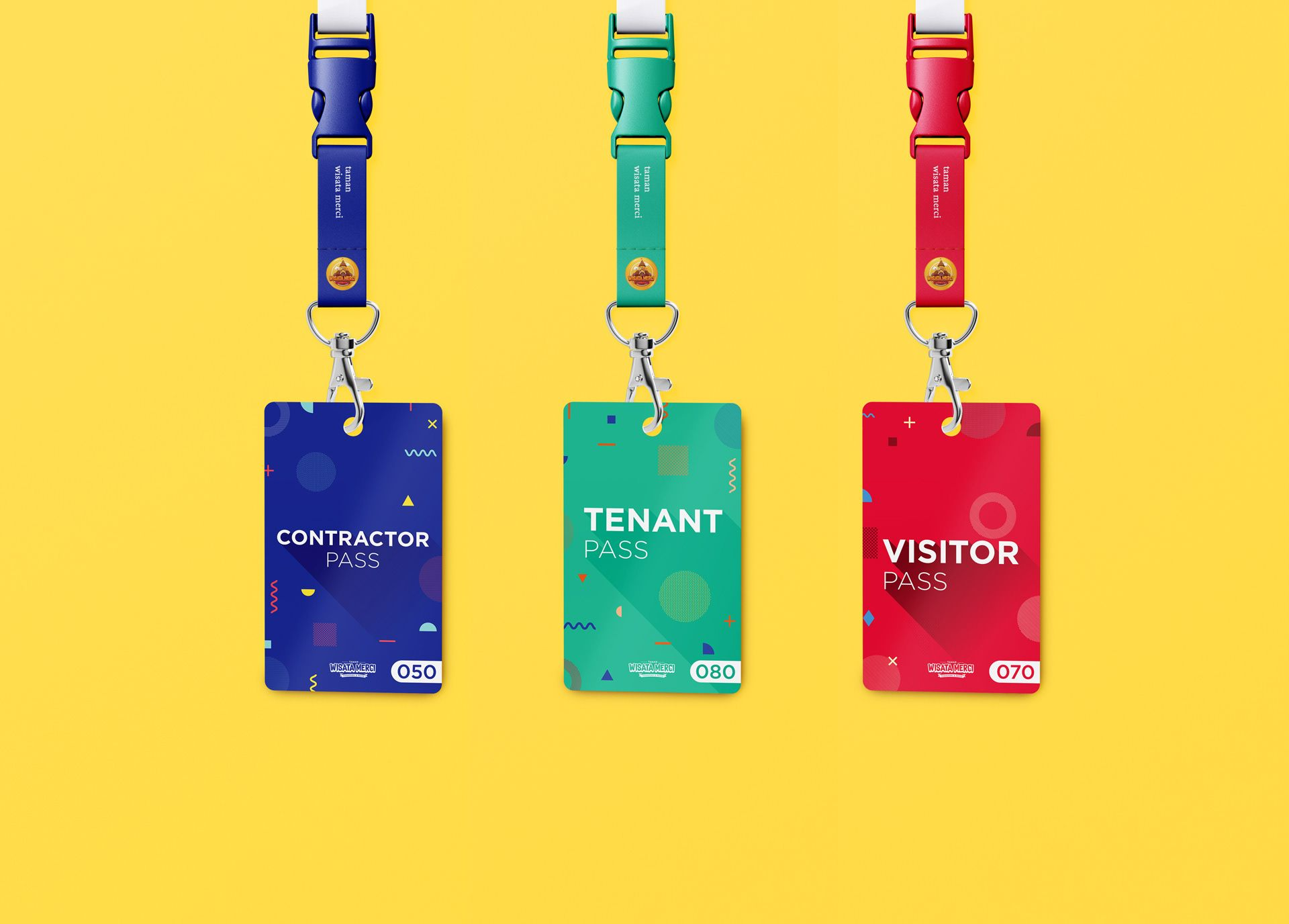 Visitor Pass On Behance Visitor Badges Card Design Basic Watercolor