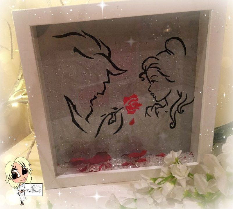 Beauty And The Beast Inspired Box Frame Home Decor Wall Hanging Or