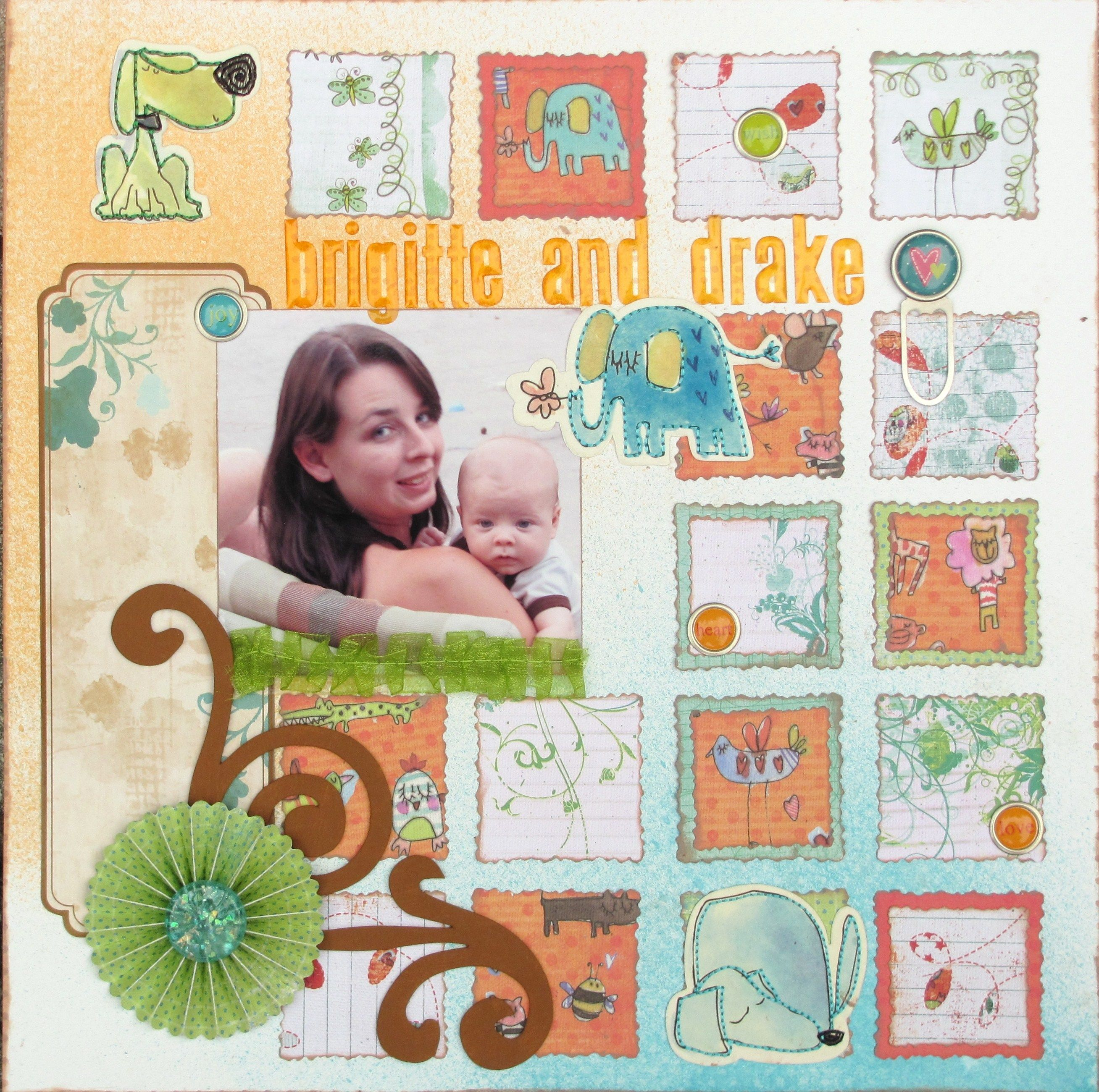 brigitte and drake - Scrapbook.com - Very pretty baby page ...