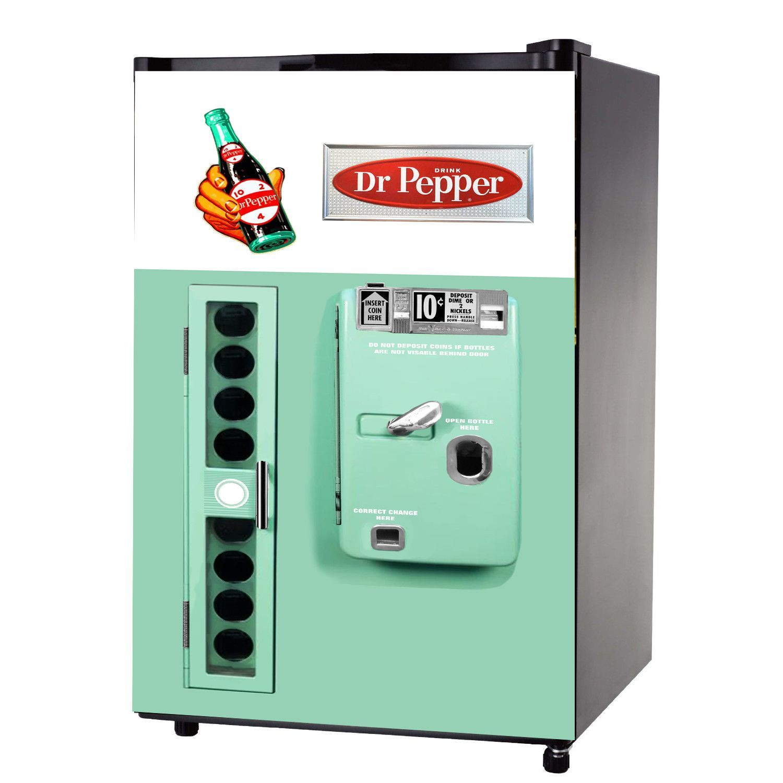 Names Of Kitchen Appliances Dr Pepper Vintage Mini Fridge Front Wrap Sticker Mondays Dr