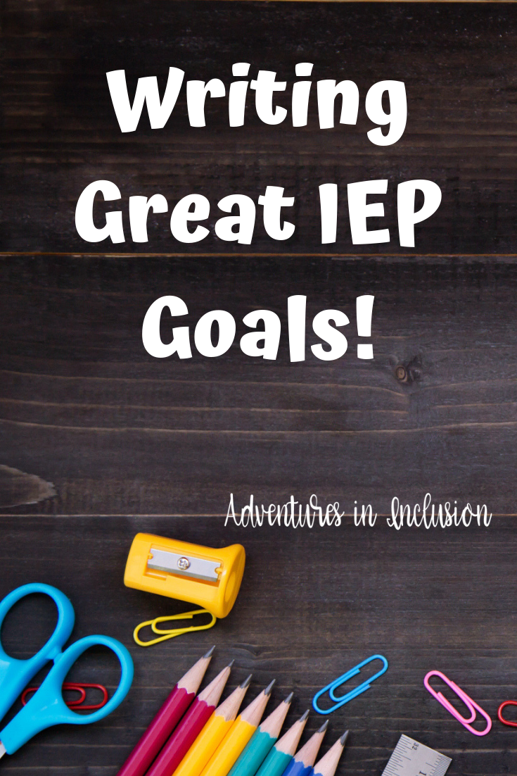 Writing Great IEP Goals is part of Iep goals, Iep, Special education resources, Co teaching, Teaching strategies, Special education teacher - This post may contain affiliate Links  Please read our disclaimer for more info  As a special education teacher, it can be exhausting writing and rewriting IEP goals for all of the students on your caseload  But, this is an important part of our job  Read on for tips on how to write great IEP goals  Use Current Performance When you are writing an IEP goal it is really easy to just take one that you have written in the past and reuse it for the new student  While all special education teachers refer to what they've done in the past to help them, make sure that what you're doing also makes sense for this student  Often I get students with IEP goals that are completely unattainable for them  If a student comes in solving grade level word problems with 40% accuracy, giving them a goal of being able to do it with 80% accuracy, just because that's what you always put, is setting your student up for failure  Maybe this particular student's goal should just focus on achieving a passing score this year  Or maybe you don't focus on the ability to correctly answer the problem  But, instead, focus on the necessary skills required to build up to that goal  Ensure They're Specific and Measurable When writing an IEP goal, you are most likely not going to be the special education liaison working with the student for the whole IEP  Most IEPs are written during the school year and will carry into the beginning of the following year  In my district, I only work with students for one year, so I inherit IEPs from the seventhgrade teachers and mine are passed along to the high school  When you are writing IEPs make sure that the goals are written in very clear, measurable terms  Any special education teacher should be able to pick up the IEP and understand exactly what the student is working toward, where they are now, and how you will know when they have achieved their goal  Refer to the Curriculum Make sure, especially in math, that you are working toward the curriculum  And that you are going to be including the skills that are going to be worked on that year  For example, don't write a goal or benchmarks about fractions if you are not going to be covering fractions during that IEP cycle  Collaborate Don't be afraid to run your ideas by other teachers  It is really useful to have one or more teachers at work that you bounce ideas off of  I have two other special education teachers that work with the same grade that I do  I am fortunate enough to have a great relationship with both of them  Don't be afraid to read them your goals and have them proofread them or double check that an outsider would understand what you were working towards  Also, Check out The Benefits of the Inclusion Model Ways to Differentiate Homework The Ultimate Guide to CoTeaching eBook! Check it Out! We won't send you spam  Unsubscribe at any time  Powered By ConvertKit Join the newsletter Subscribe to get our latest content by email  Success! Now check your email to confirm your subscription  There was an error submitting your subscription  Please try again  First Name Email Address We use this field to detect spam bots  If you fill this in, you will be marked as a spammer  Subscribe We won't send you spam  Unsubscribe at any time  Powered by ConvertKit
