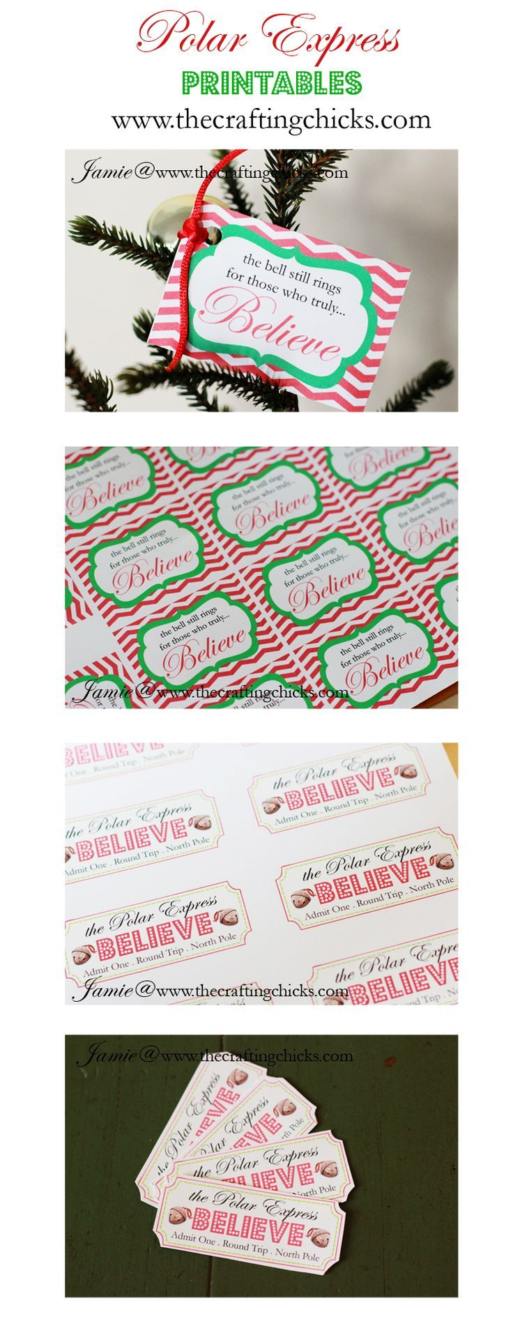 Polar Express Printables Includes A Download With Tickets And Bell