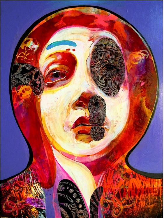 Blue Eyebrow   Painting, Saatchi art