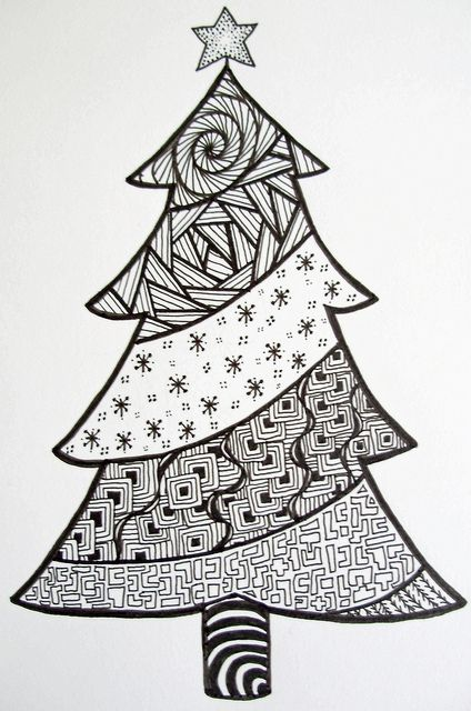 Christmas Tree Doodle C Z Ford Tree Doodle Christmas Doodles Christmas Tree Zentangle