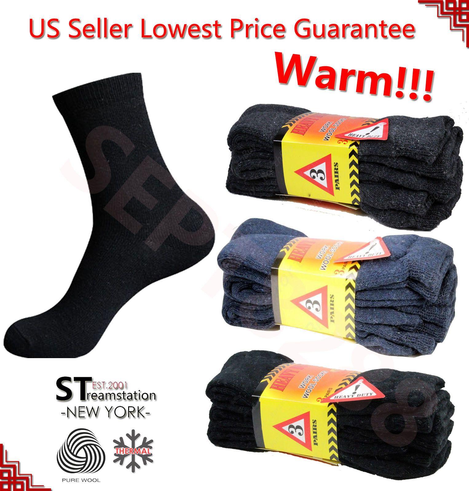 2018 1 Pair Mens Super Warm Heavy Thermal Merino Wool Winter Socks ONE SIZE