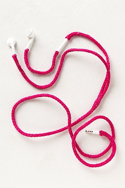 Knit-Cozy Earbuds #anthropologie  Maybe my Mom would like to make these for her craft sale!