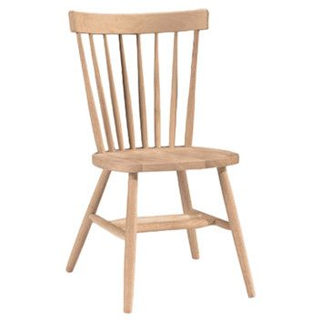 International Concepts Copenhagen Arrowback Side Chair Unfinished Paint For Dining Room