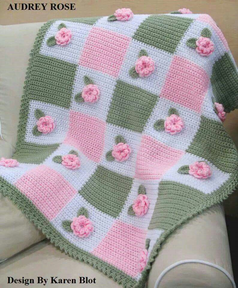 Loom knit | Baby blanket knitting pattern, Baby afghan ...