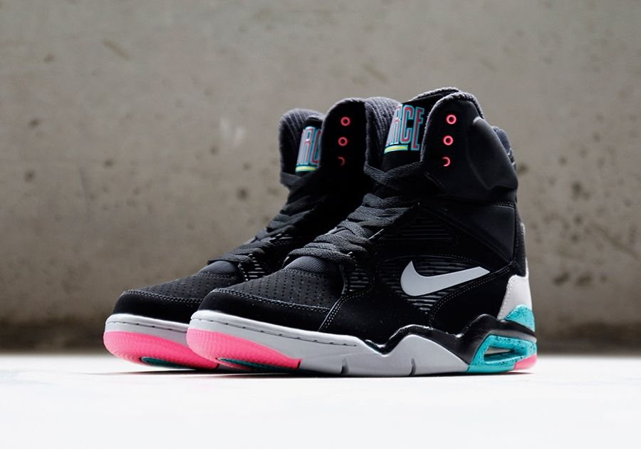 A Closer Look at the Nike Air Command Force Black/Wolf Grey-Hyper Jade-Hyper  Pink (Hypebeast)