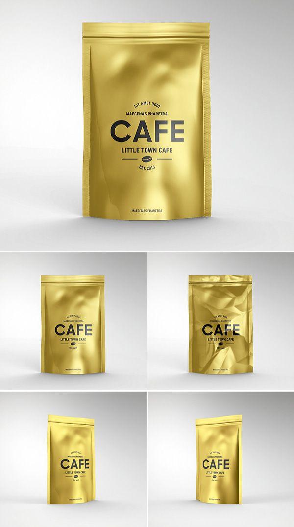 Download Foil Bag Pack Mockup Psd Template Graphic Design Mockup Mockup Design Freebie