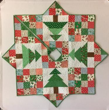 Christmas Patch Tree Skirt Quilting Pinterest Christmas, Tree