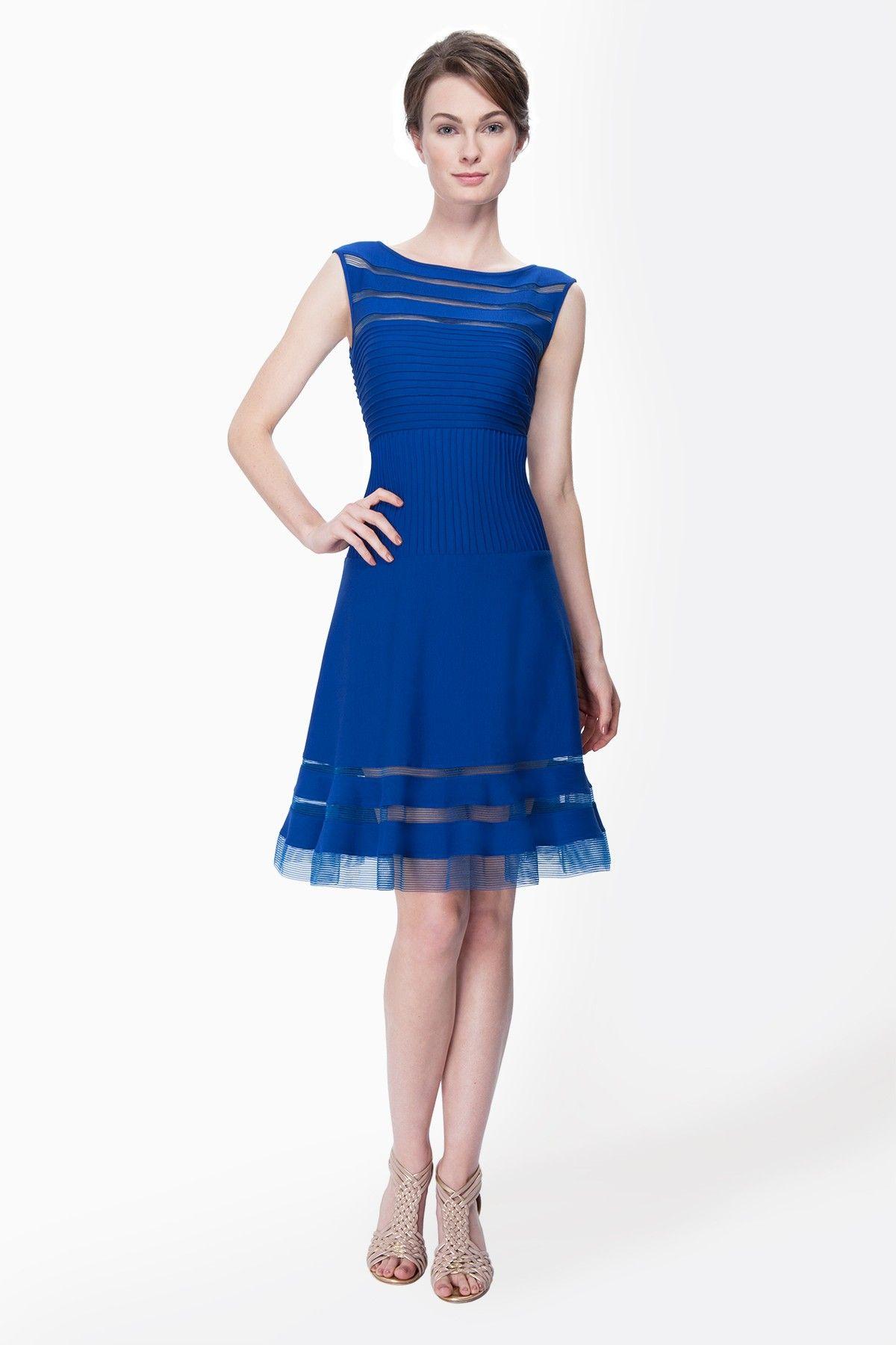 Cutout Jersey Boatneck Cocktail Dress In Blue Lagoon Shop Tadashi Shoji Navy Blue Lace Dress Pretty Blue Dress Dresses [ 1800 x 1200 Pixel ]