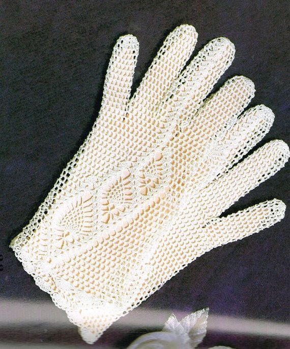 Men's Afghan Stitch Gloves Pattern #618