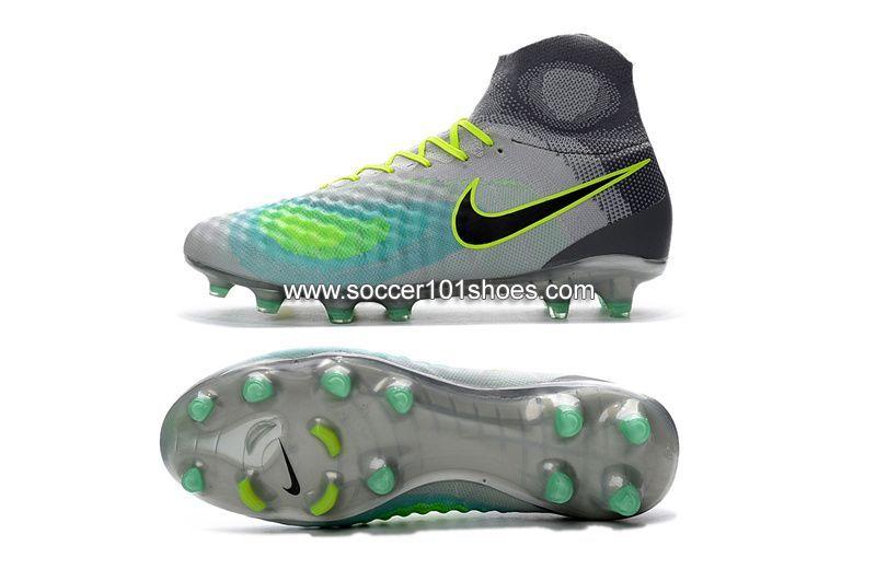 premium selection dca6f d50b0 Nike Mens Magista Obra II FG With ACC Football Boots Hi Top Soccer Cleats  Grey Green   77.00