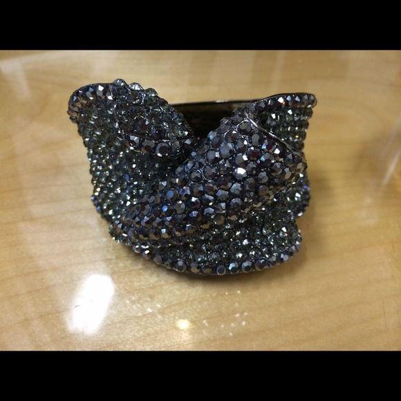 Black Stoned Bangle Black Stoned Bangle with Clasp Opening Jewelry