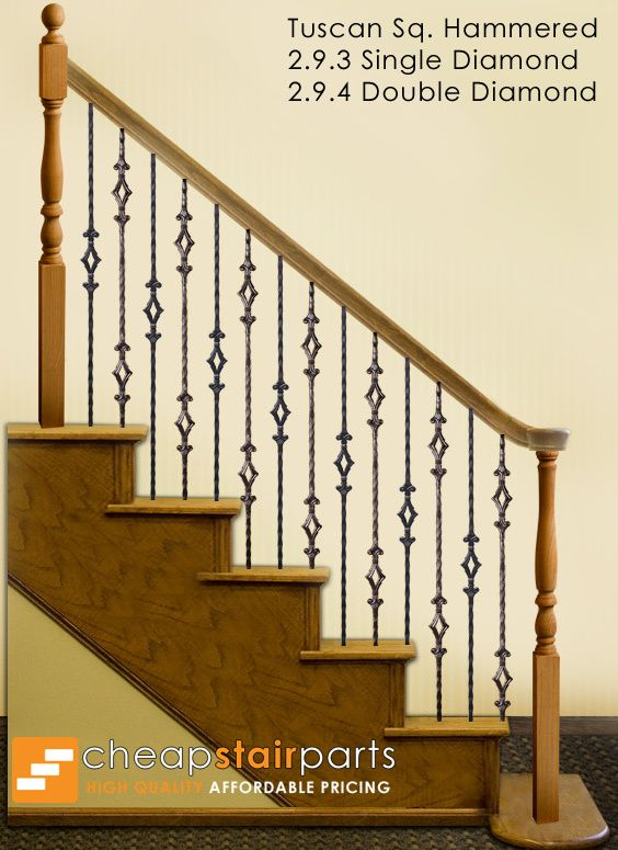 This Staircase Pattern Features Balusters From The Tuscan Square Hammered  Series. The Single Diamond Bar (2.9.3) And The Double Diamond Baluster  (2.9.4) ...