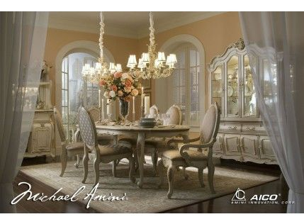 Lavelle Blanc Oval Dining Room Set Matching Sets Pinterest - Beautiful Dining Rooms