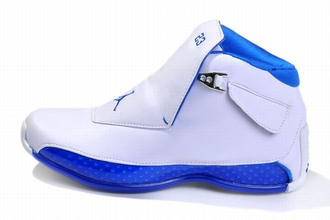 b04e498edd54c9 Air Jordan 18 Retro White Blue Men s